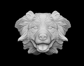 3D printable model Australian shepherd bas relief for 2