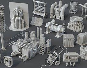 3D model Factory Units 5 - 20 pieces
