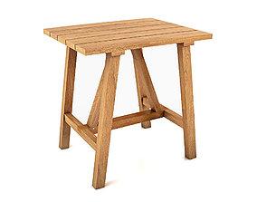 Crosby Teak Side Table 3D model