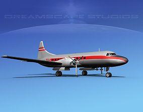 Convair CV-340 Texas Airlines 3D