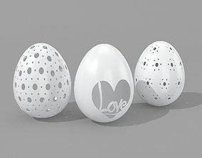 Egg Sculpture - 3 Models 3D