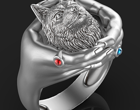 3D print model Wolf Hand Ring