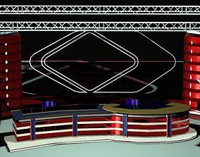 TV Studio News Set 109 3D model