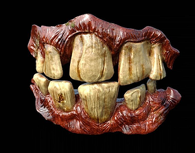 Teeth Corona render scene and Substance Painter files 3D