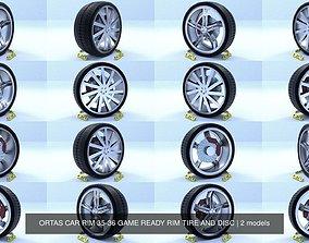 ORTAS CAR RIM 35-36 GAME READY RIM TIRE AND DISC 3D