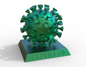 protist coronavirus 3d model