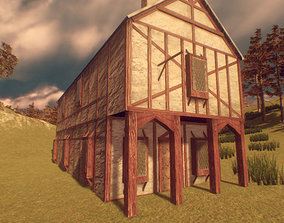 Medieval Buildings and Props 3D model