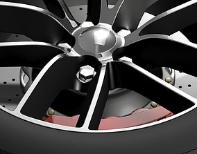 3D model Dodge Challenger 392 wheel 2015