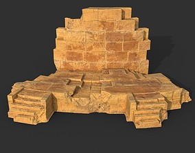 Low poly Ancient Roman Ruin Construction 07 - 3D model
