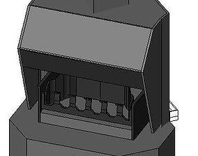 loose standing fire place corner 3D model