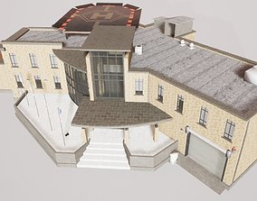Police Station Building Cop HQ 3D asset