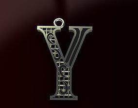 Alphabet Pendant letter 3D printable model