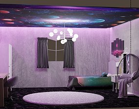 Teenager modern room 3D