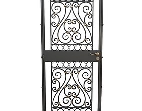 Wrought iron gate 02 3D