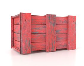 Wooden Boxes High Quality 3D asset