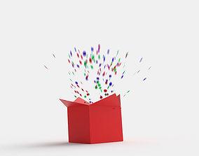 Animated Present Box 3D model
