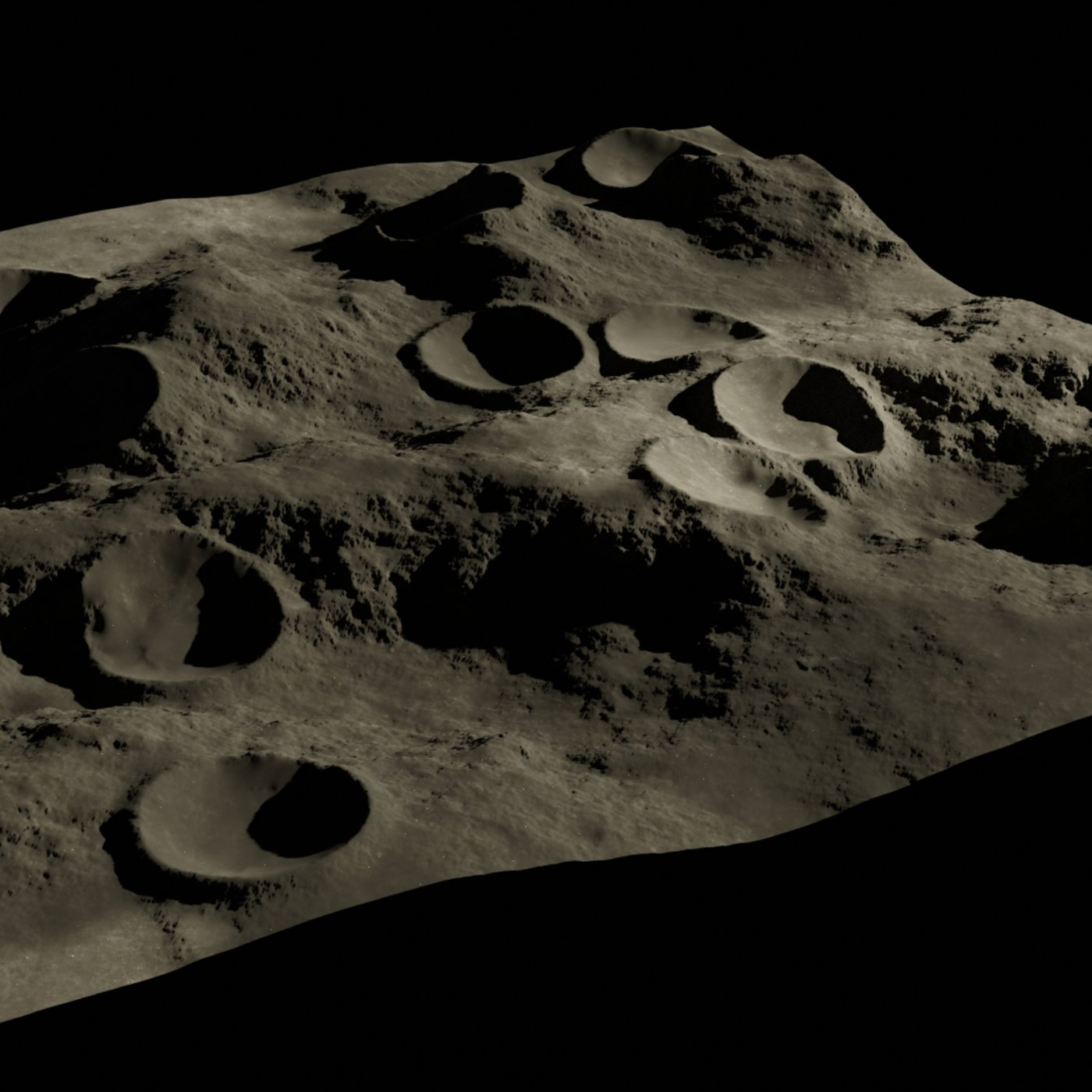 Moon crater 3D