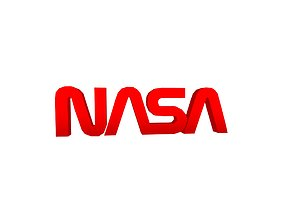 3D asset NASA 1975 Logo v1 002