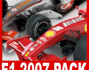 3D model F1 2007 McLaren MP4-22 Ferrari F2007