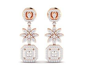 delicate jewellery Women Earrings 3dm stl render detail