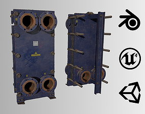 Old russian big Heat Exchanger 3D model