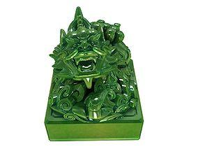 bodhisattva Imperial jade seal 3D