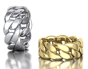 3D print model Cuban Link Chain Ring Stackble Ring 10mm