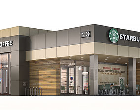 Starbucks coffee shop 2 3D model