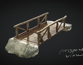 Old Village Bridge Low Poly 3D model low-poly