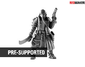 Lieutenant Death squad of Imperial 3D printable model