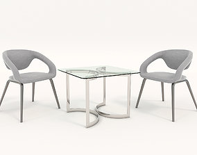 3D model Modern Table and Chair Set 4