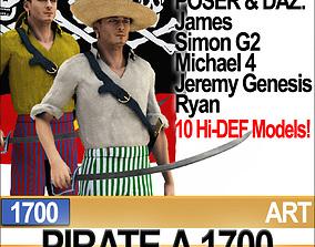 3D Pirate Props Poser Daz A 1700