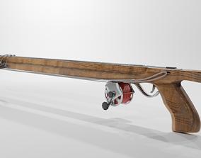 Wooden Speargun 3D asset