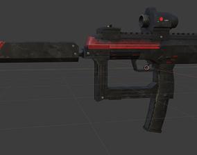 Sci-Fi Gun 3D asset game-ready