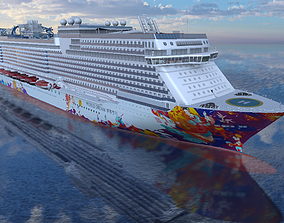 World Dream cruise ship 3d model VR / AR ready