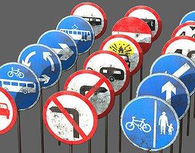 3D asset Traffic Sign Collection VOL 2