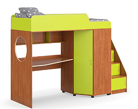 Legenda K04 and LY10 childrens modular bed 3D
