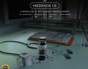 MedPack 3D asset game-ready