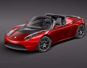electrical Tesla Roadster 2010 3D model