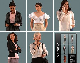 shopping Set of 3D women standing in various poses