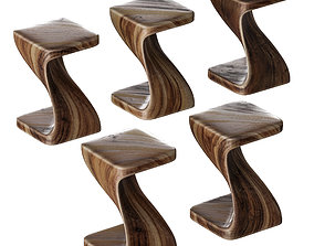 3D model Stools in solid wood Lionel by Made Goods
