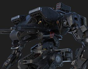 Infantry war machine SCI-FI 3D rigged