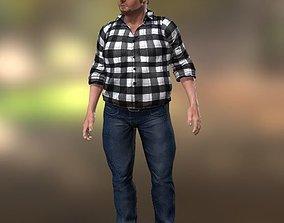 Big boss 3D model rigged