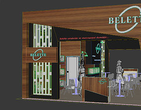 Exhibition Stand 3D popup interior