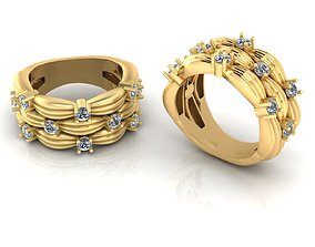 Tiffany Ring 3D print model jewelry