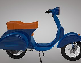 game-ready Low-Poly Vespa Scooter low-poly 3D Model