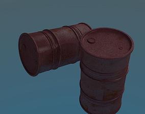 rusty oil barrel 3D asset