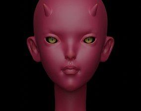 Editional Imp head for Aurora fashion BJD doll for 3d