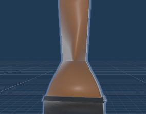 3D model game-ready paint brush