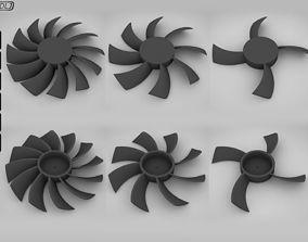 3 Fan - Different blades 3D print model